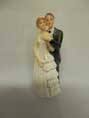 BRIDE AND GROOM TRADITIONAL FIGURINE, 9CM TALL AND REMOVABLE VEIL.