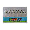 SOCCER CANDLES H/SOUT OF STOCK SORRY