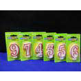 NUMBER CANDLES RED EDGE 1,2,3,4,5,6,7,8,9,0