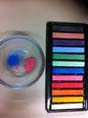 12 SOFT CHALKS CAKE ART PASTLES. 12 COLOURS,