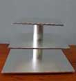 3 TIER DISASSEMBLED CUP CAKE STAND. ROUN OR SQUARE GOLD OR SILVER