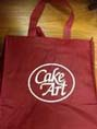 Enviromentally friendly carry bag, strong enough to carry a 7kg box of icing.