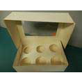 Display and presentation box for 6 cupcakes. inset for stability in transport. Ask about a discount for order 20+